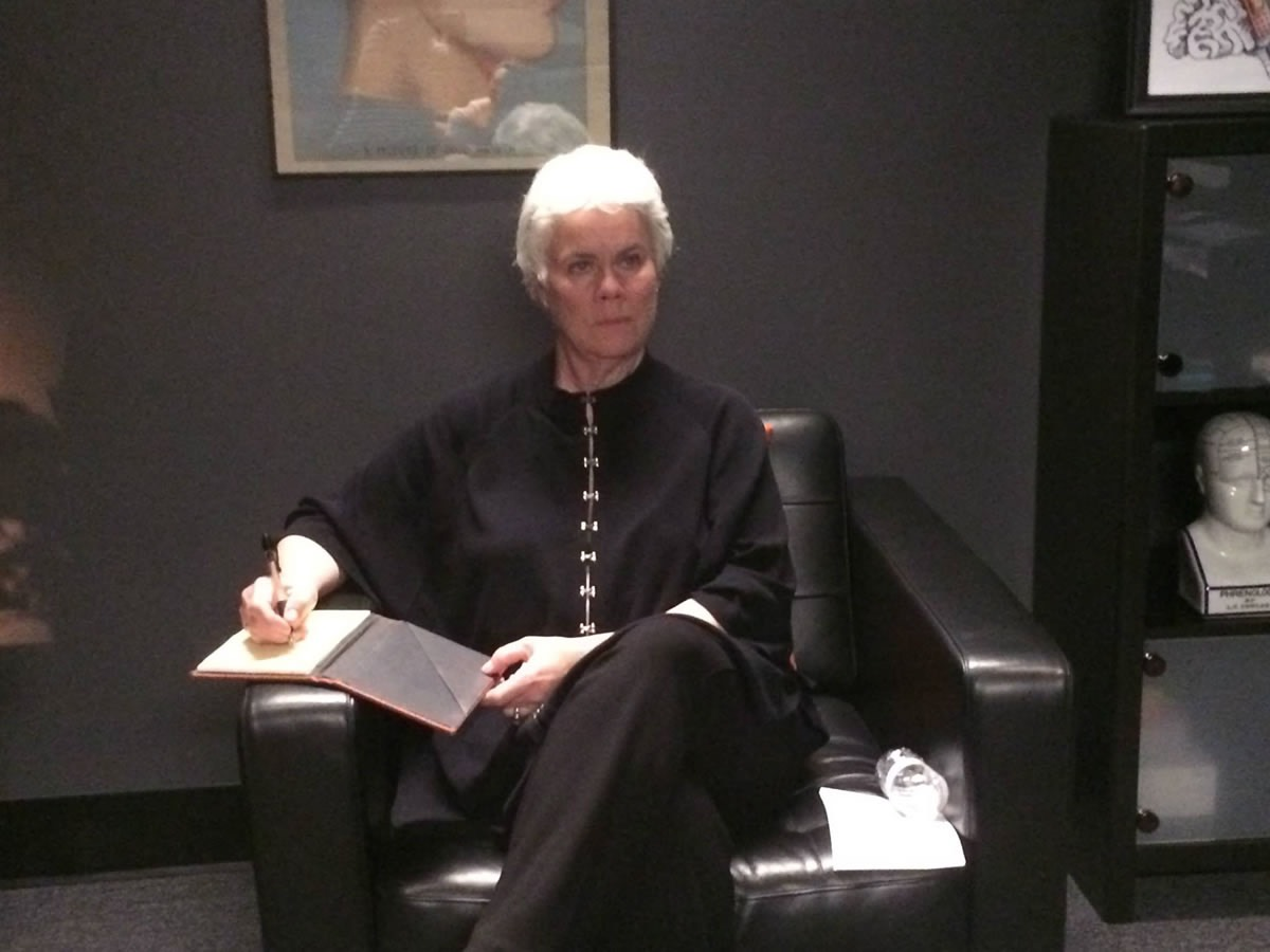 Sheilagh Weymouth as The Shrink in CONFESSION